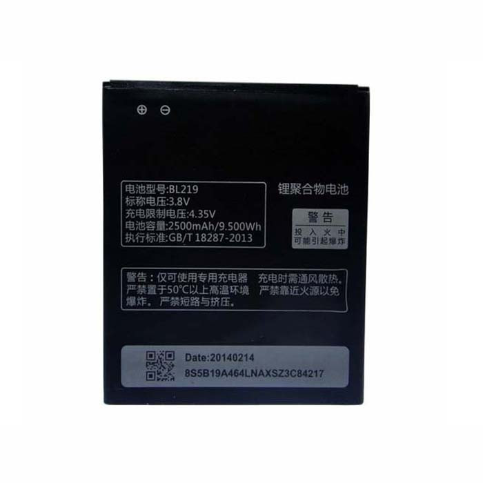 2500mAh/9.50Wh Lenovo Smartphone A850+ A916 A880 A889 S856 Replacement Battery BL219 3.8V
