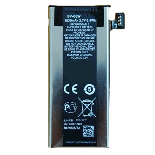 1830mah Nokia LUMIA 900 Replacement Battery BP-6EW BP6EW 3.7V