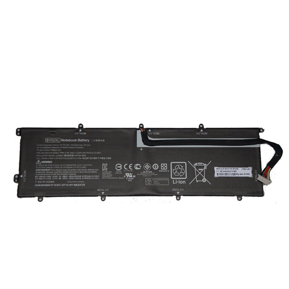 33Wh 7.6V BV02XL Replacement Battery for HP Envy X2 Detachable 13 Series
