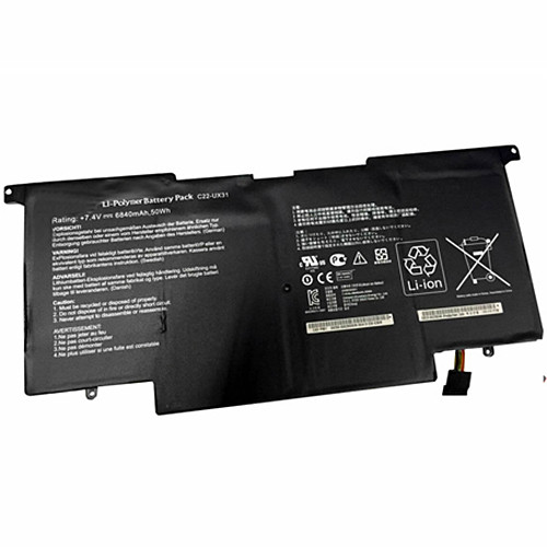6840mAh ASUS UX31 UX31E Ultrabook Series Replacement Battery C22-UX31 7.4V