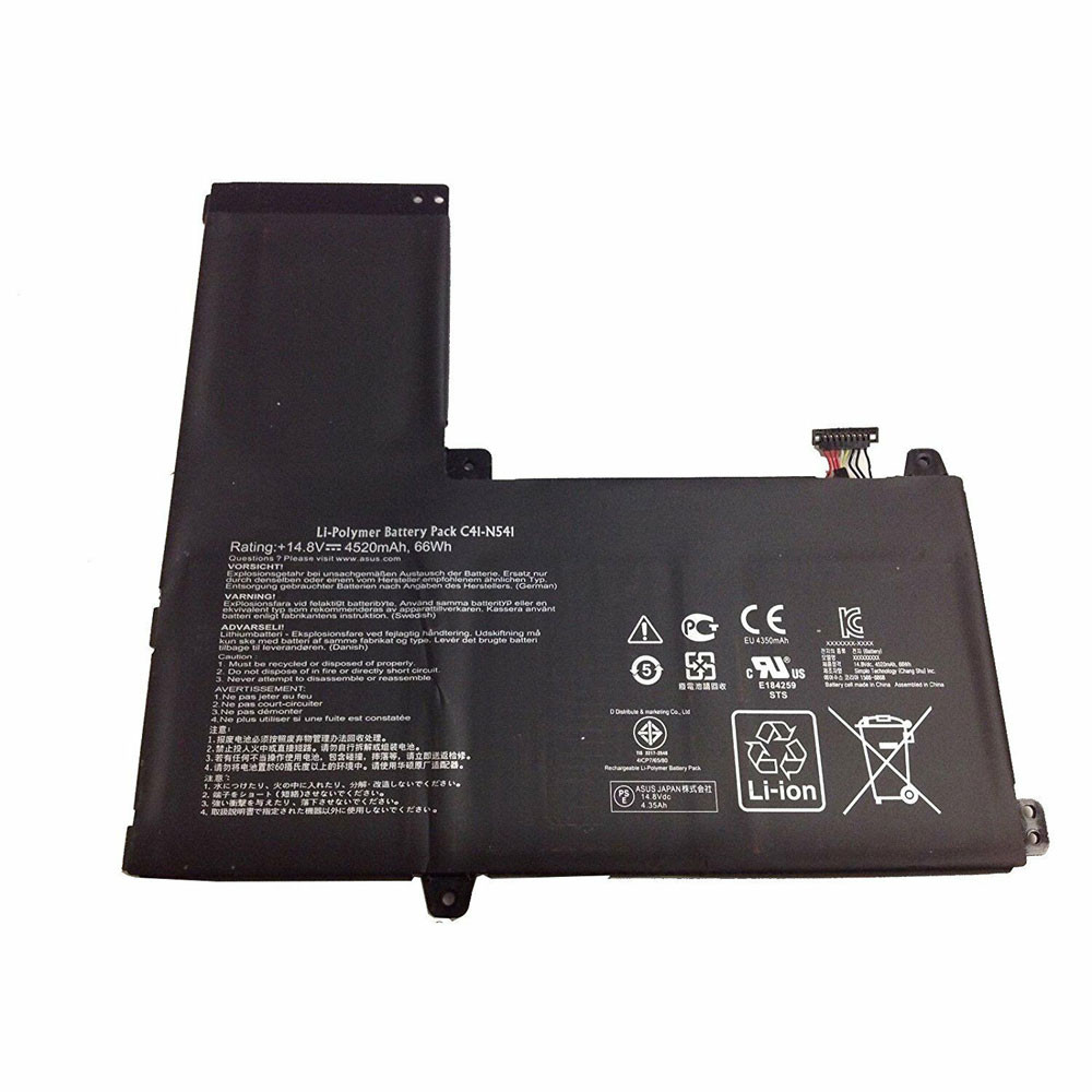4520mAh/66Wh 14.8V C41-N541 Replacement Battery for ASUS Q501L Q501LA Q501LA-BBI5T03 Series Laptop