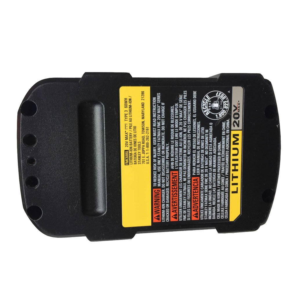3000mAh 60WH 20V FMC686L Replacement Battery for Stanley FatMax