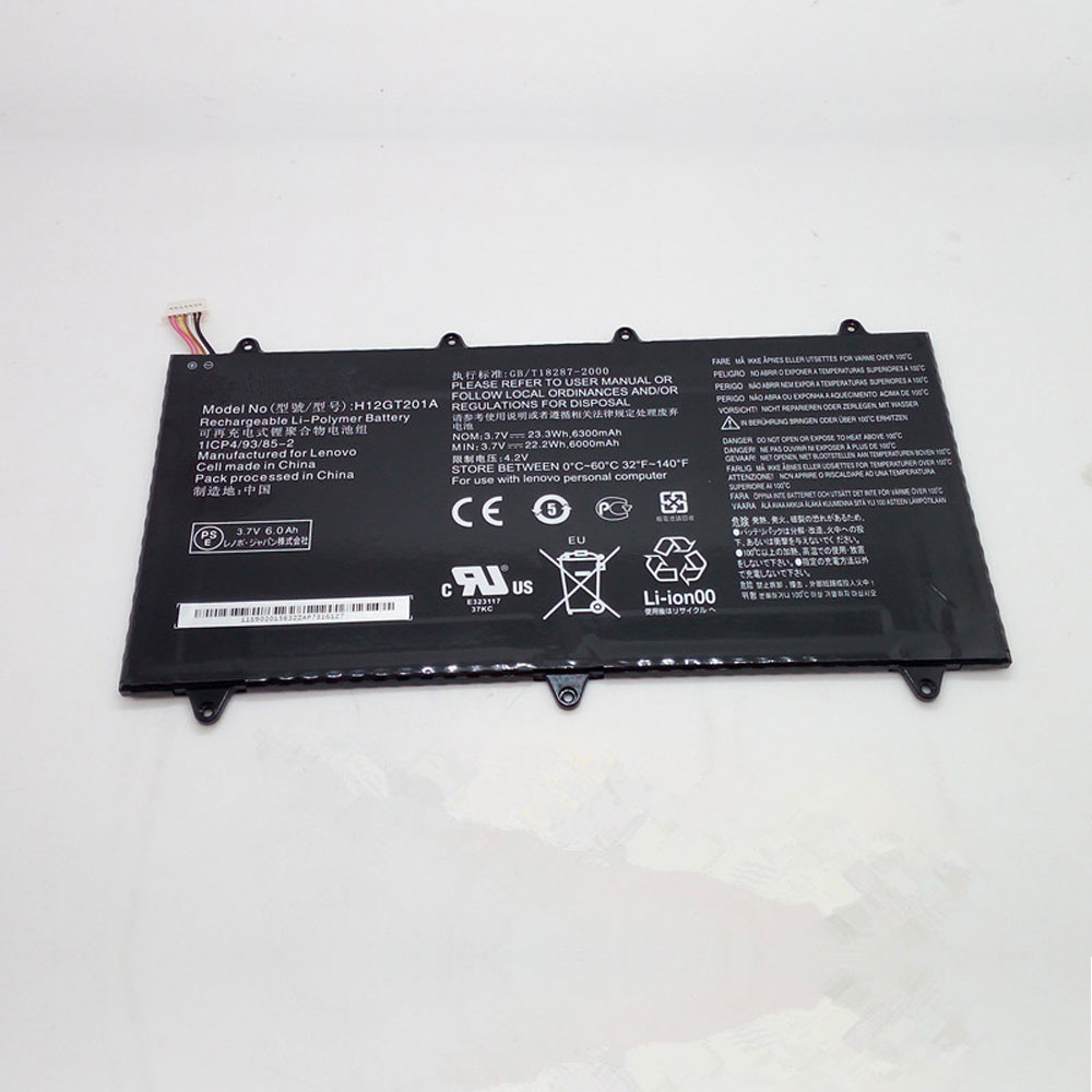 23.3Wh 3.7V H12GT201A Replacement Battery for Lenovo IdeaTab A2109A Tablet PC/Pad