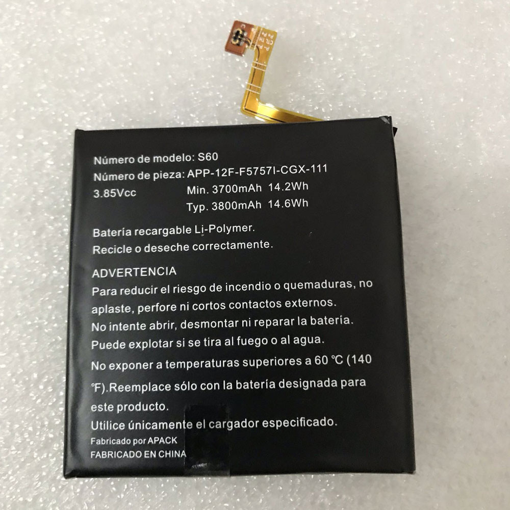 3700mAh/14.2WH 3.85V/4.2V APP-12F-F5757I-CGX-111 Replacement Battery for CAT S60