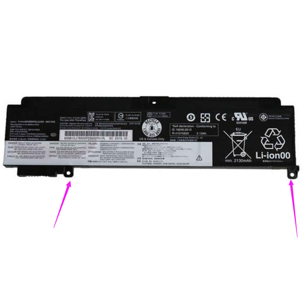 2.065Ah/24Wh Lenovo T460S Replacement Battery SB10J79004 11.4V