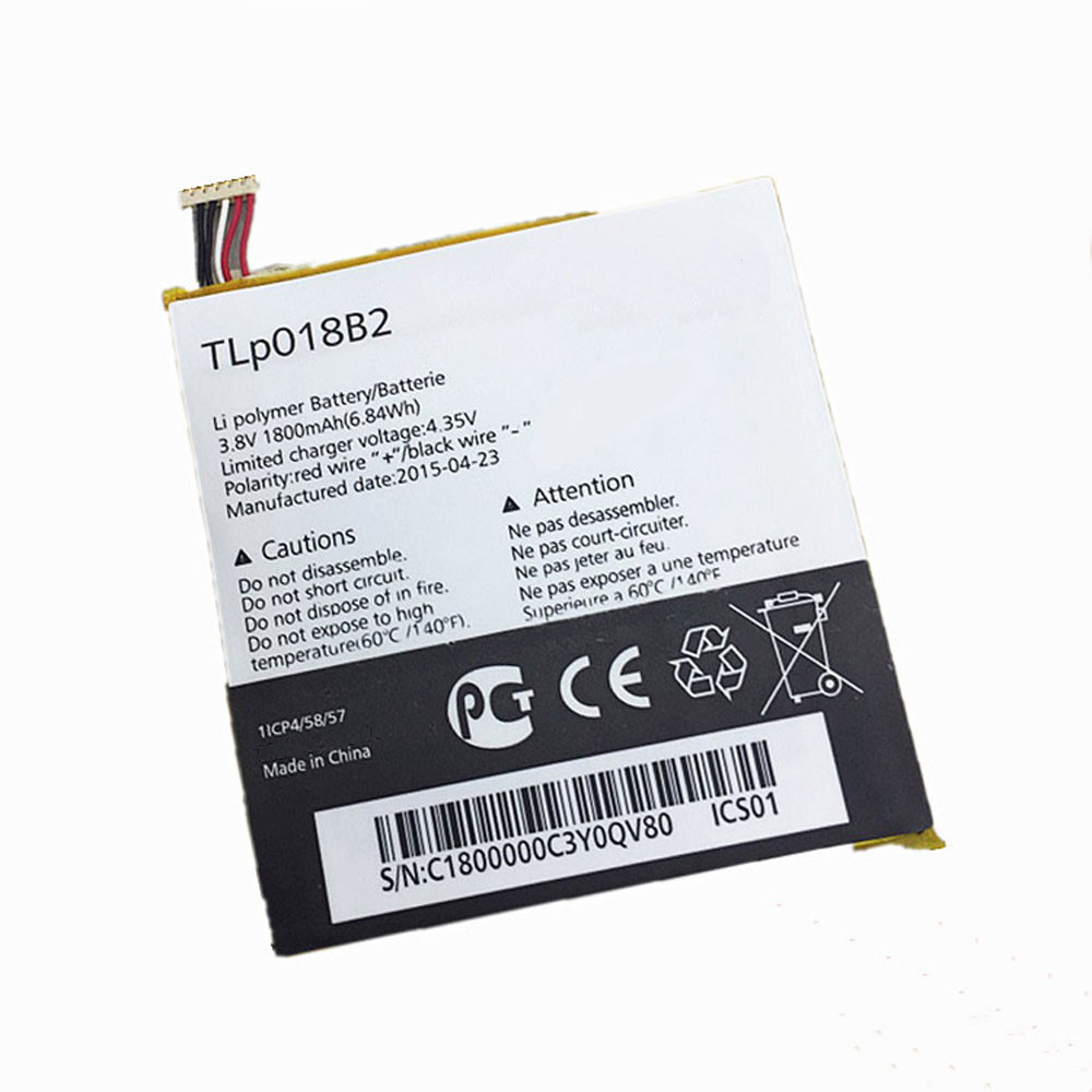 1800MAH/6.84Wh 3.8V/4.35V TLP018B2 Replacement Battery for Alcatel ONETOUCH Fierce 7024 7024w 7024n Ot-6030a 6030 S820