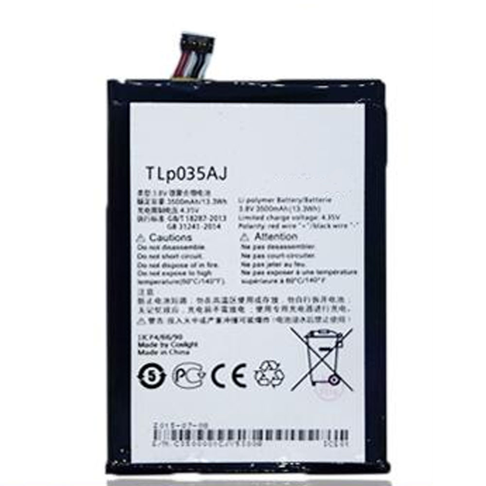 3500MAH/13.3Wh 3.8V/4.35V TLP035Aj Replacement Battery for ALCATEL onetouch N1 MAX M823