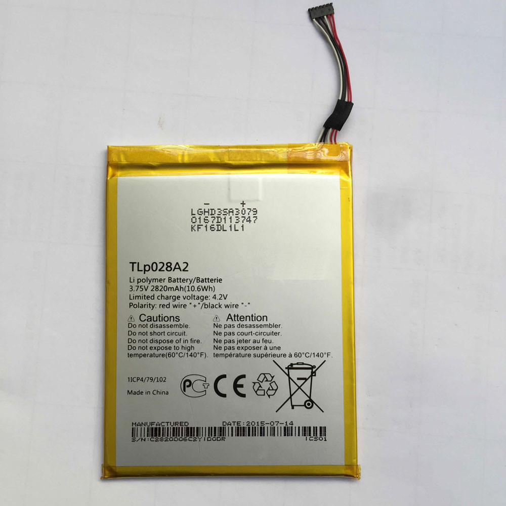 2820MAH/10.6Wh 3.75V/4.2V TLp028AD Replacement Battery for Alcatel One Touch Pixi 3 (7) LTE / 7.0 4G