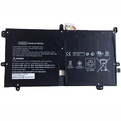 2800mah HP DA02XL 664399-1C1 Series  Replacement Battery TPN-P104 HSTNN-IB4C 7.4V