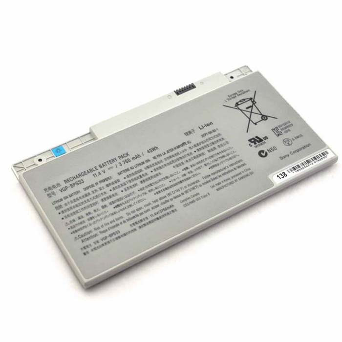 3760mAh / 43WH SONY VAIO SVT-14 SVT-15 T14 T15 Touchscreen Ultrabooks Replacement Battery VGP-BPS33 11.4V
