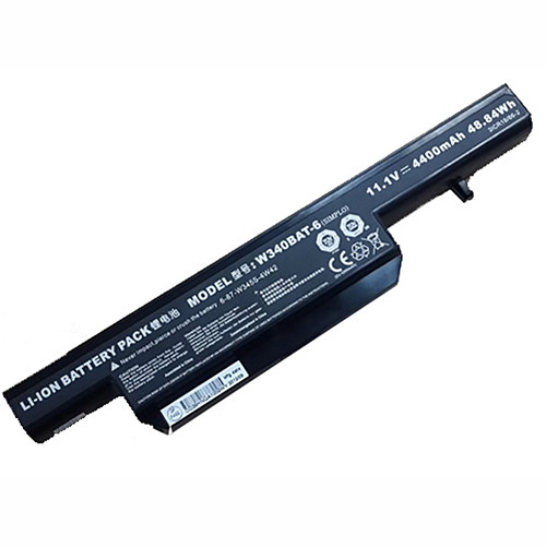 4400mAH/48.84WH G150S W340BAT-6 6-87-W345S-4W42  Replacement Battery W340 11.1V