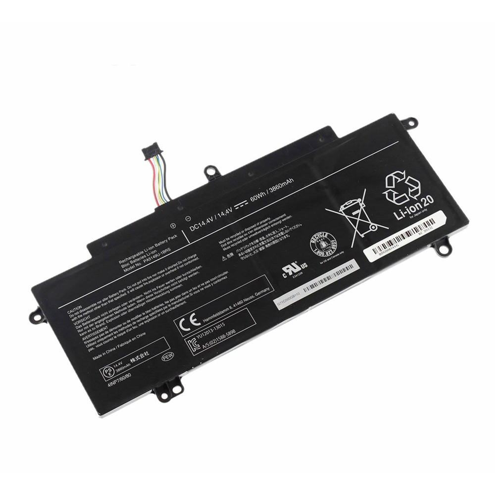 60Wh/3860mAh Toshiba Tecra Z40T-A1410 Z50-A-11H Replacement Battery PA5149U-1BRS 14.4V