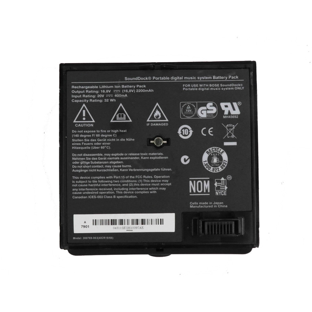 300769-003 akku Ersatzakku für Bose Sounddock Portable Digital Music System