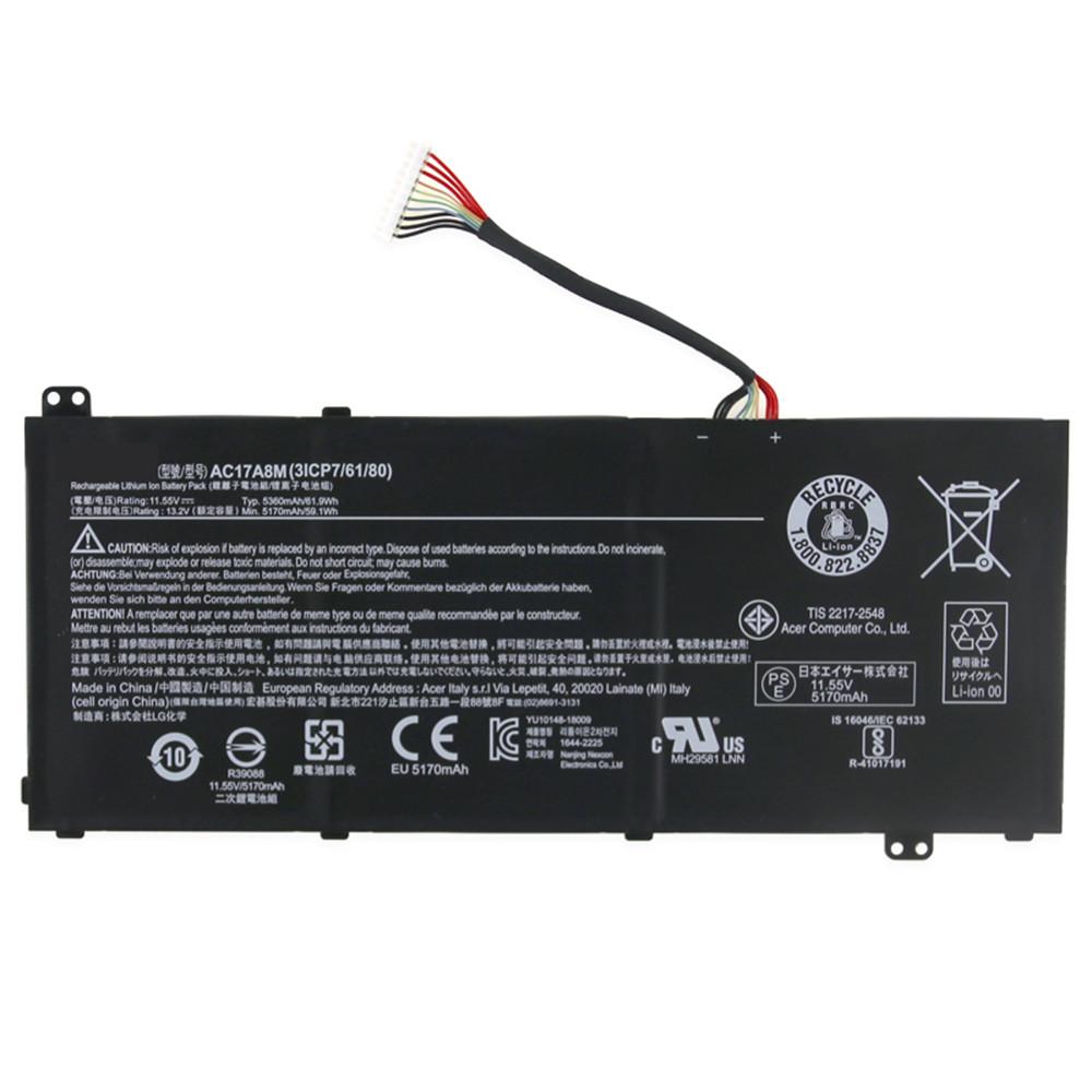 AC17A8M Akku Ersatzakku für Acer Spin 3 SP314-51 14 Batterien