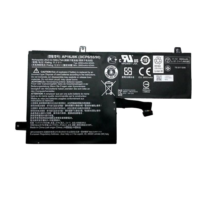AP16J8K Laptop akku Ersatzakku für Acer AP16J8K 3ICP6/55/90 series Batterien