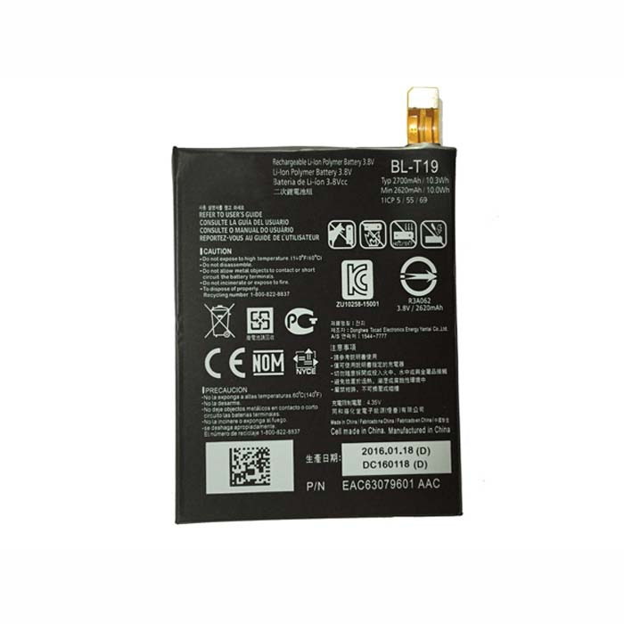 BL-T19 akku Ersatzakku für LG H791 H798 H790 Google Nexus 5X L-T19 BLT19 Batterien