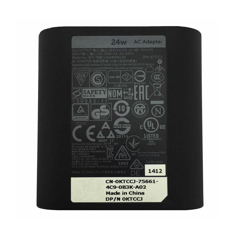 Netzteil für 24W Dell Venue 7 8 10 11 Pro Tablet,DA24NM130 Ladegerät