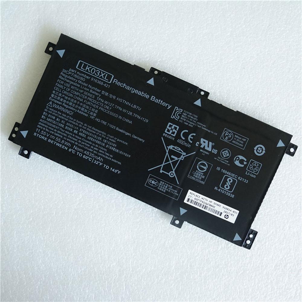 LKO3XL Laptop Akku Ersatzakku für HP HSTNN-LB7U TPN-W127/W128 TPN-I129 Series Batterien