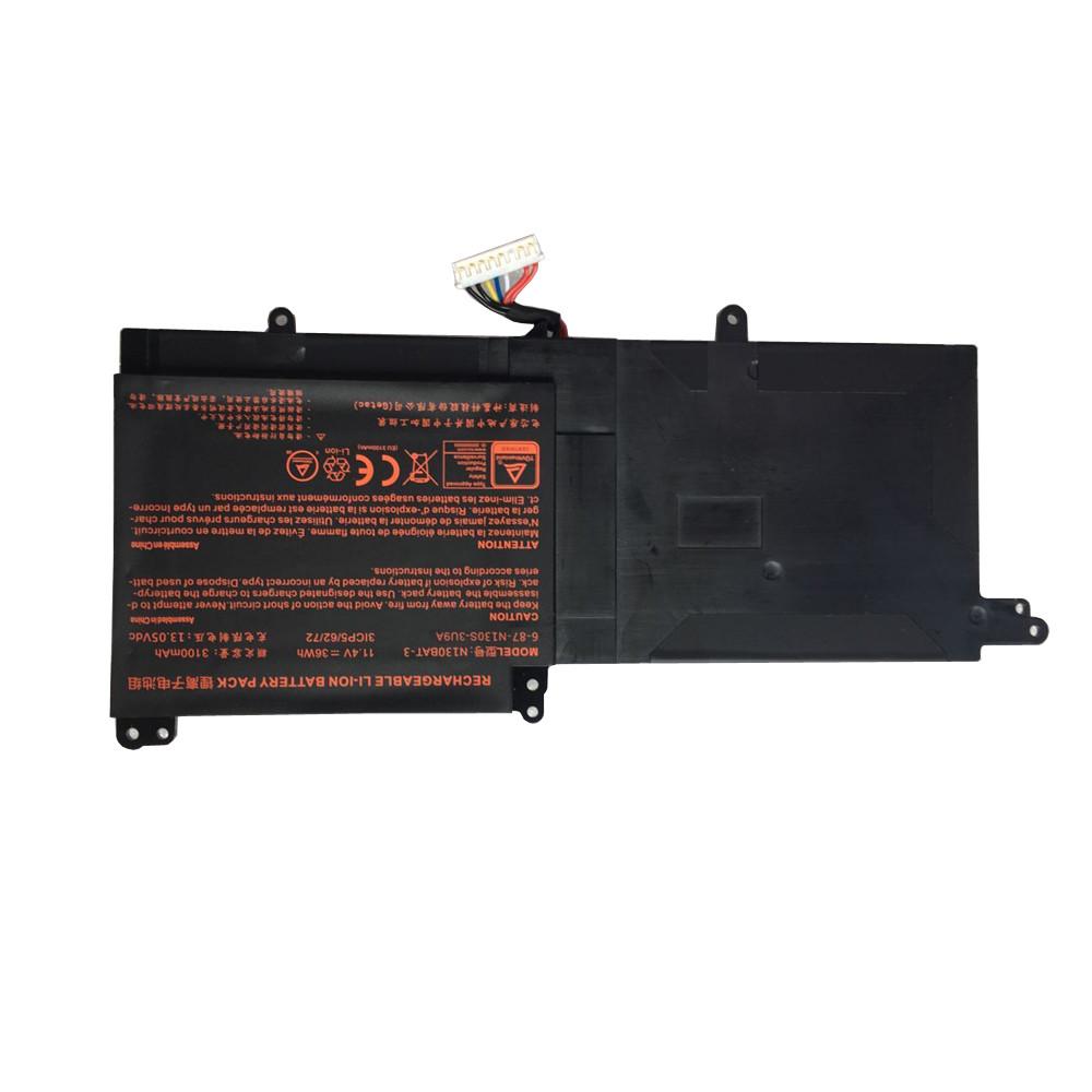 N130BAT-3 Laptop akku Ersatzakku für Clevo N130BU Sager NP3130 36Wh Batterien