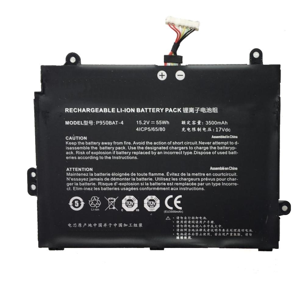 Rechargeable LI-ION Laptop akku Ersatzakku für Clevo P950BAT-4 Batterien