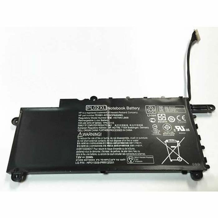 PL02XL 751875-001 Hstnn-lb6b Tpn-c115  Laptop akku Ersatzakku für Hp Pavilion 11-n X360 Batterien