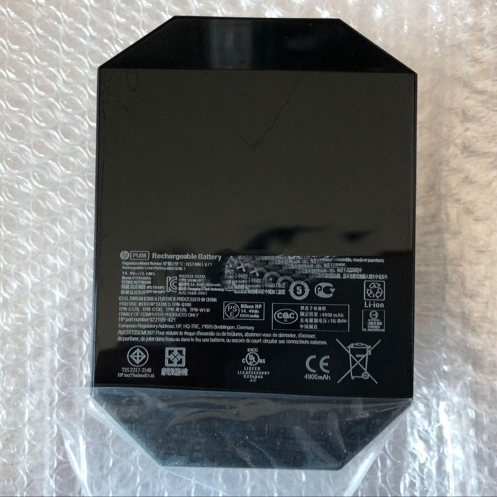 PU08 Laptop Akku Ersatzakku für HP HSTNN-LB7Y TPN-Q186 C129 C130 W129 W130 Batterien