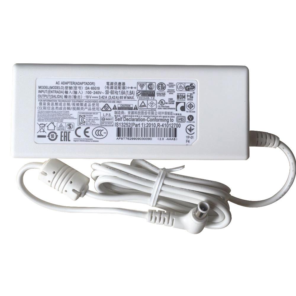 Adaptateur pour 65W White LG Innotek PSAB-L101A DA-48F19 32MB24  19V 3.42A 65W