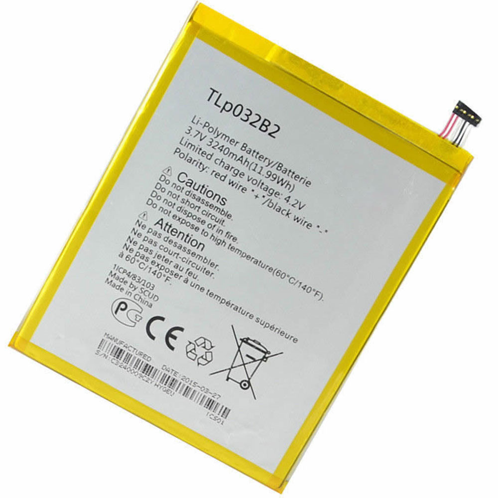Alcatel TLP032B2 batteries - Acheter 3240MAH/11.99Wh 3.7V/4.2V TLP032B2 Batteries