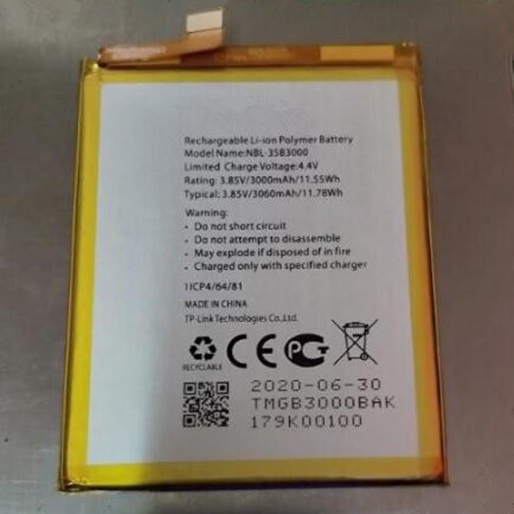 3200Mah/12.32Wh 3.85V NBL-35A3200 Replacement Battery for TP-Link Neffos NBL-35A3200