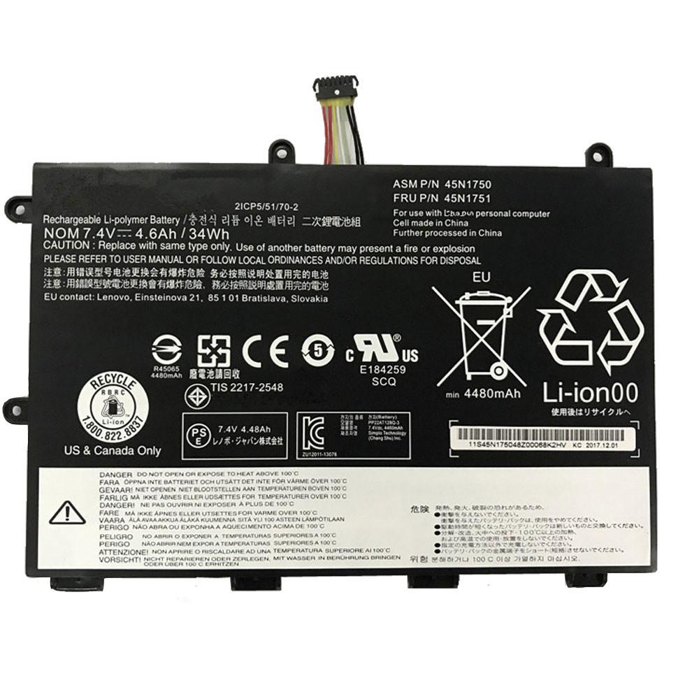 34wh/4600mAh 7.4V 45N1750 Replacement Battery for Lenovo ThinkPad Yoga 11e