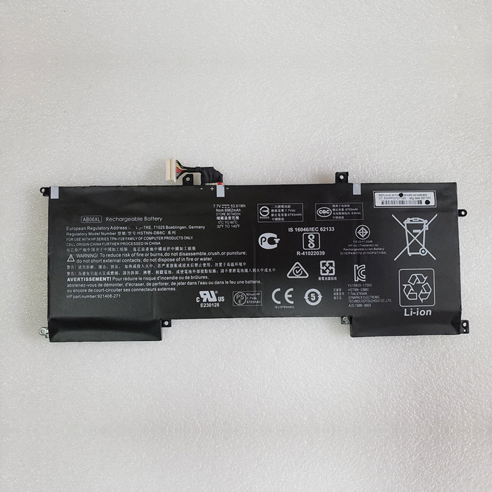 53.16Wh 7.7V AB06XL Replacement Battery for HP ENVY 13-AD023TU