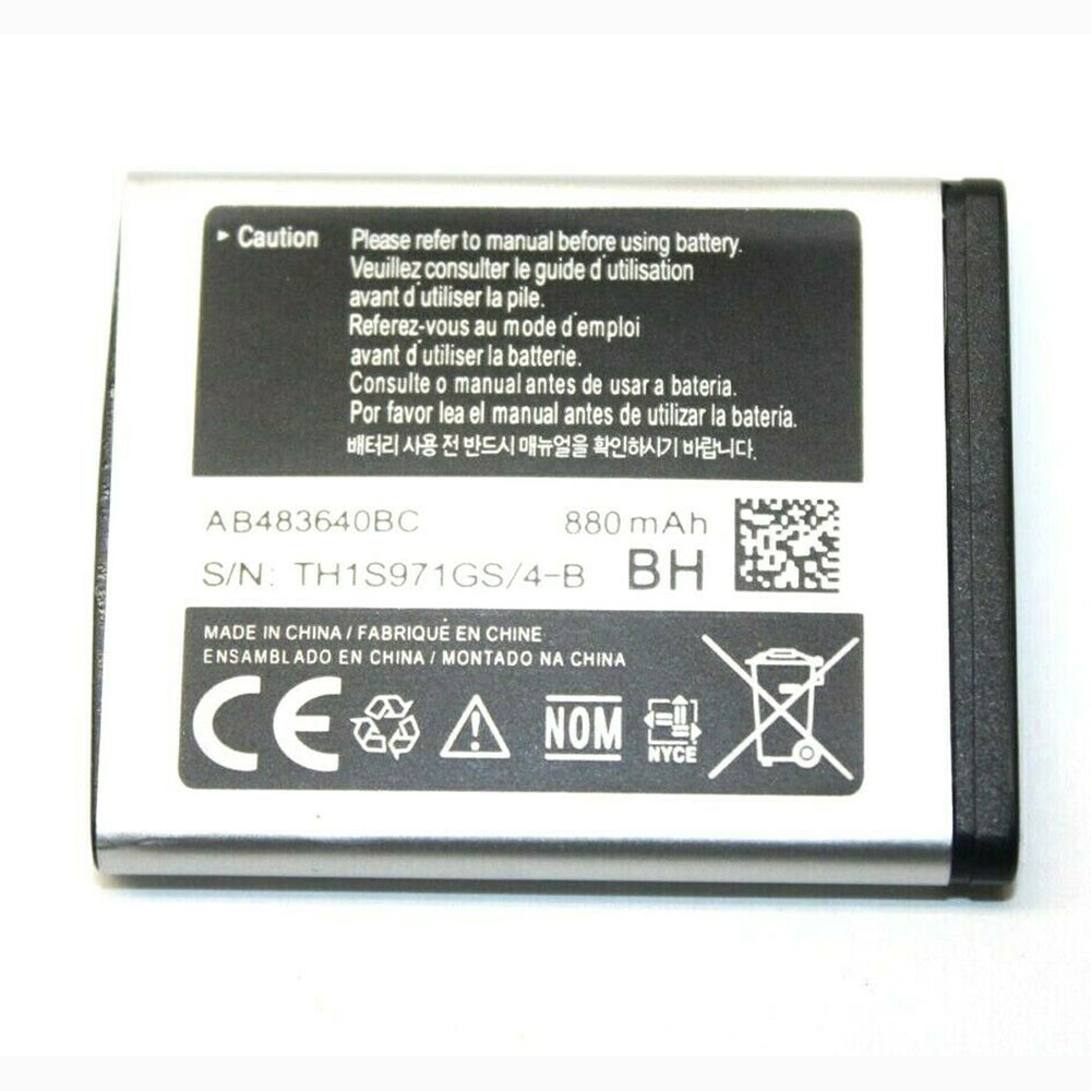 800mAh 3.7V/4.2V AB483640BC Replacement Battery for Samsung Galaxy C3050 M608 M519 T339 F619 J608