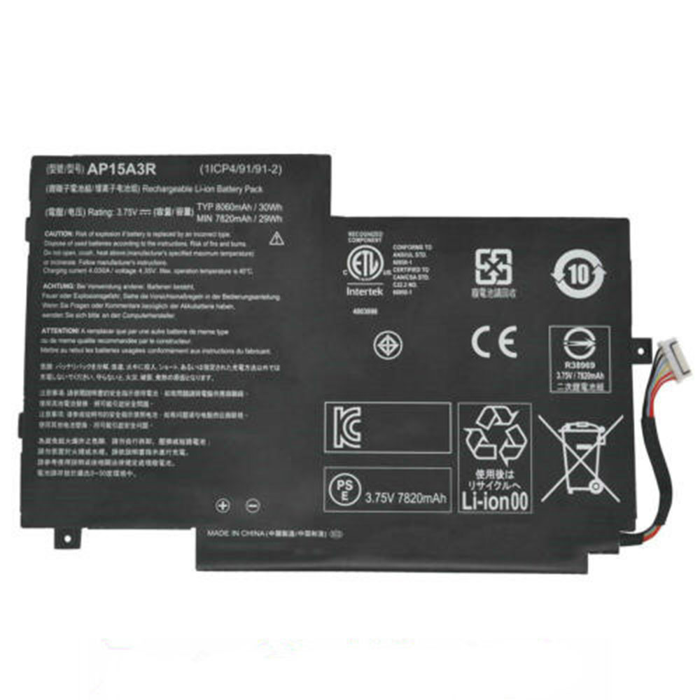 7820mAh/29WH 3.75V AP15A3R Replacement Battery for Acer Aspire Switch 10 SW3-013 10E SW3-013P