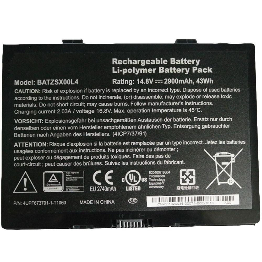 2900MAH/43WH 14.8V BATZSX00L4 Replacement Battery for Motion Computing R12