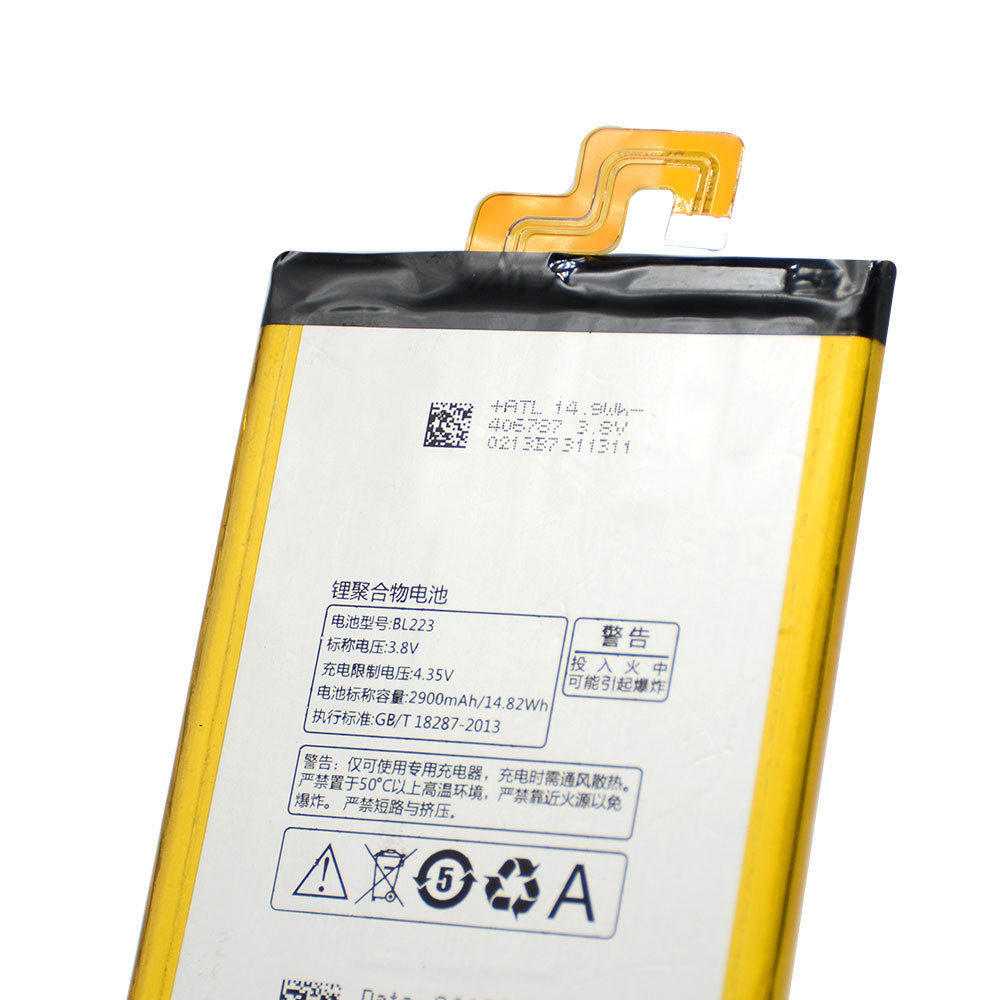 4000MAH/15.2Wh 3.8V/4.35V BL223 Replacement Battery for Lenovo Vibe Z2 pro  K520  K80  K80M  K7 K920