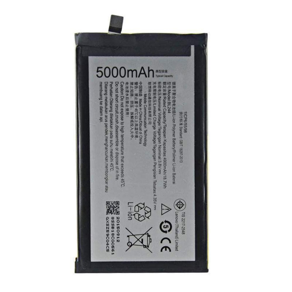 4900MAH/18.70Wh 3.8V/4.35V BL244 Replacement Battery for Lenovo P1 Turbo P1 Pro P1c58 P1c72 Vibe P1