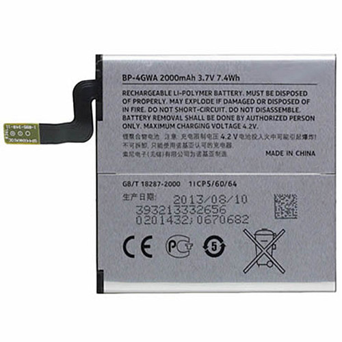 2000mAh/7.4Wh Nokia Lumia 625 Lumia 720 BP-4GWA +Tools Replacement Battery BP-4GWA 3.7V