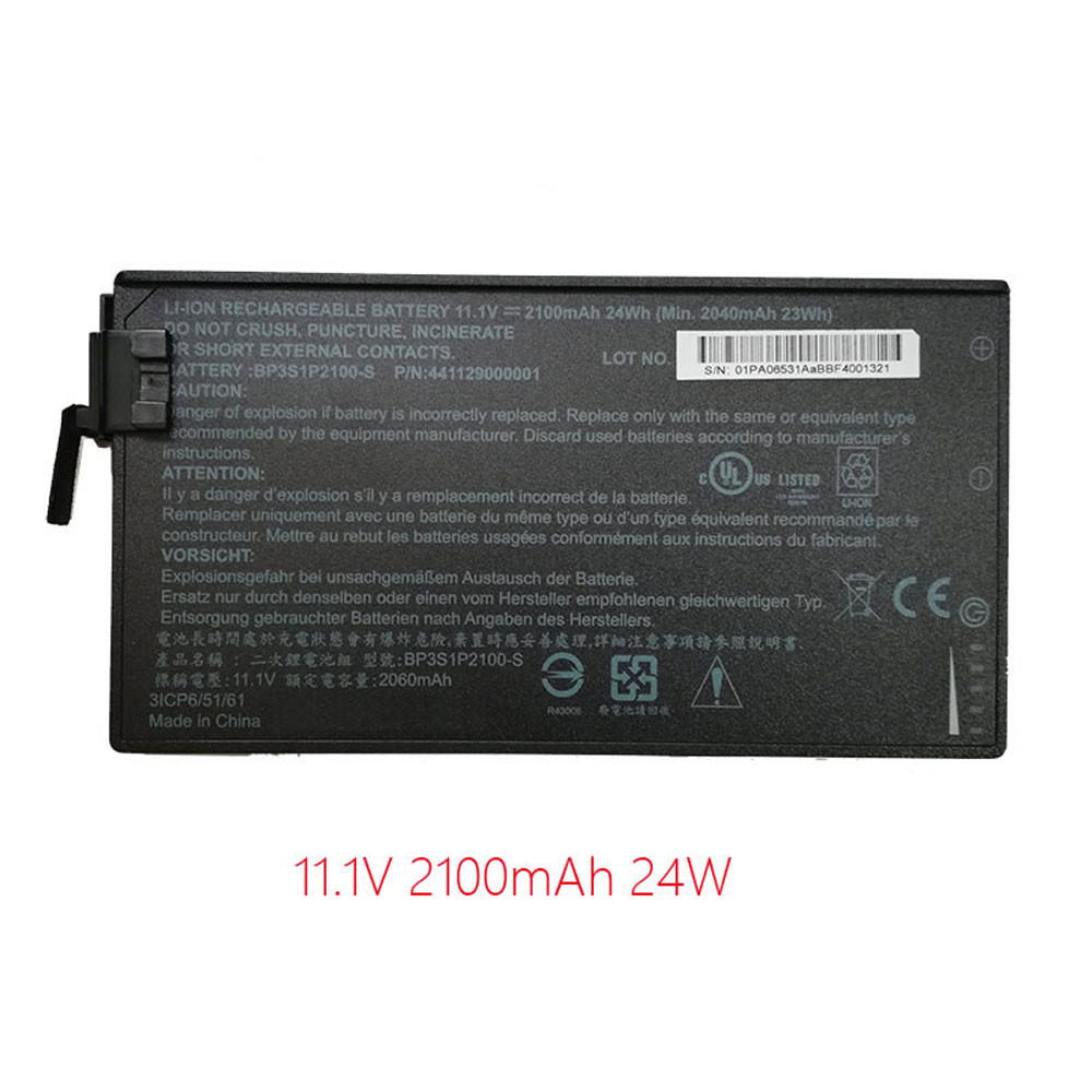 24Wh/2100mAh 11.1V BP3S1P2100-S Replacement Battery for Getac V110 Rugged