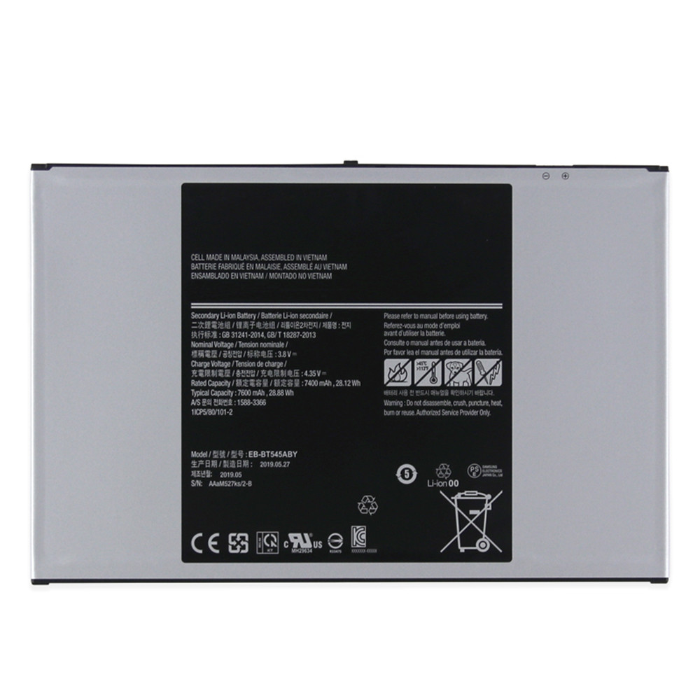 7400mAh/28.12WH 3.8V/4.35V EB-BT545ABY Replacement Battery for Samsung EB-BT545ABY