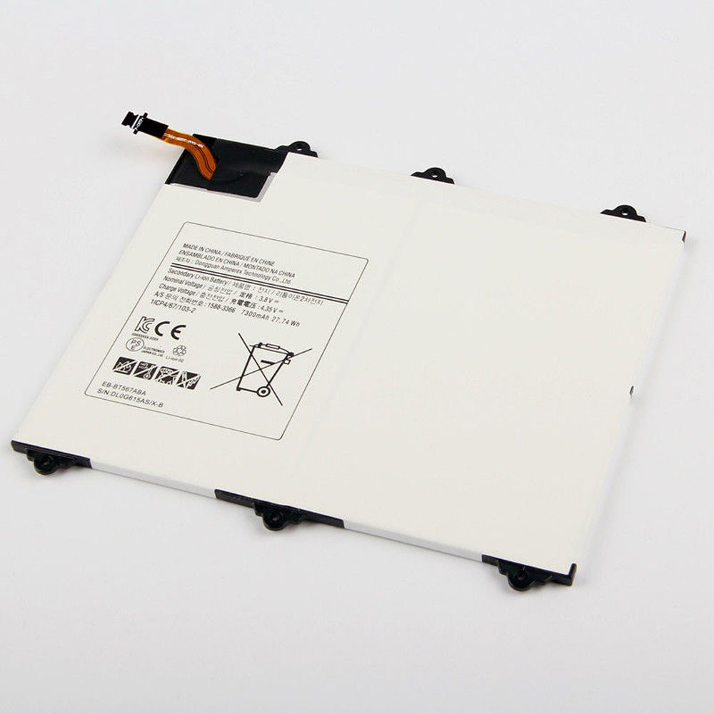 7300MAH/27.74Wh 3.8V/4.35V EB-BT567ABA Replacement Battery for Samsung Galaxy Tab SM-T560NU T567v 9.6
