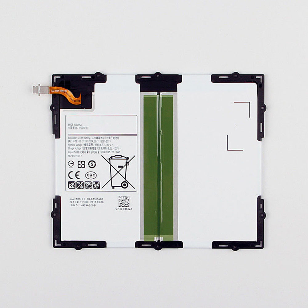 7800MAH/27.74Wh 3.8V/4.35V BT585ABE Replacement Battery for Samsung Tab A 10.1 2016 SM-T585C BT580