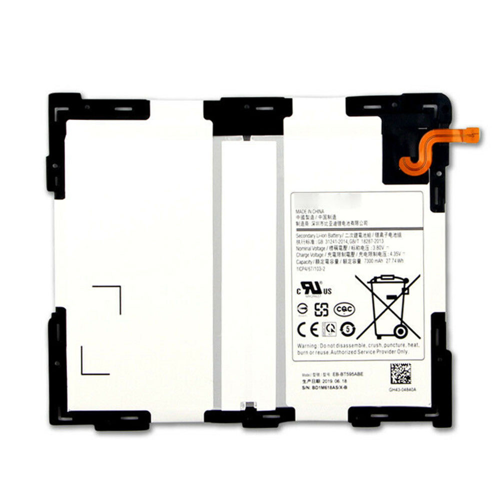 7300mAh/27.74WH 3.8V/4.35V EB-BT595ABE Replacement Battery for Samsung Galaxy Tab A2 10.5 SM-T590 T595