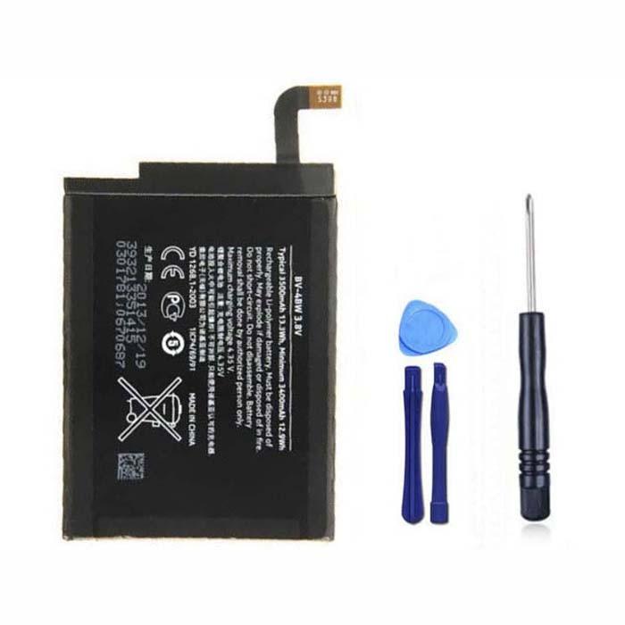 3500mAh NOKIA BV4BW Lumia 1520/1320 + Tools Replacement Battery BV-4BW 3.8V