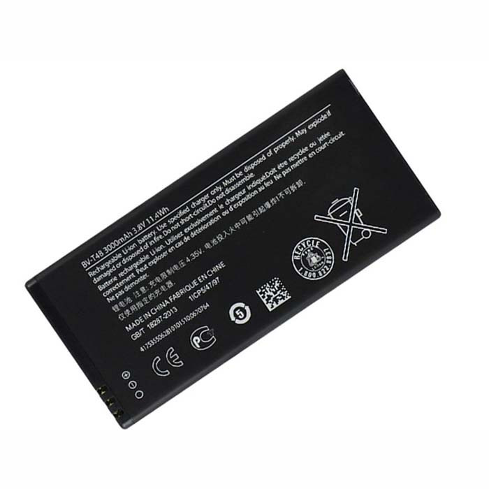 3000MAH/11.4WH Nokia Lumia 640 XL RM-1096 1062 1063(AT&T Microsoft) Replacement Battery BV-T4B BVT4B 3.8V