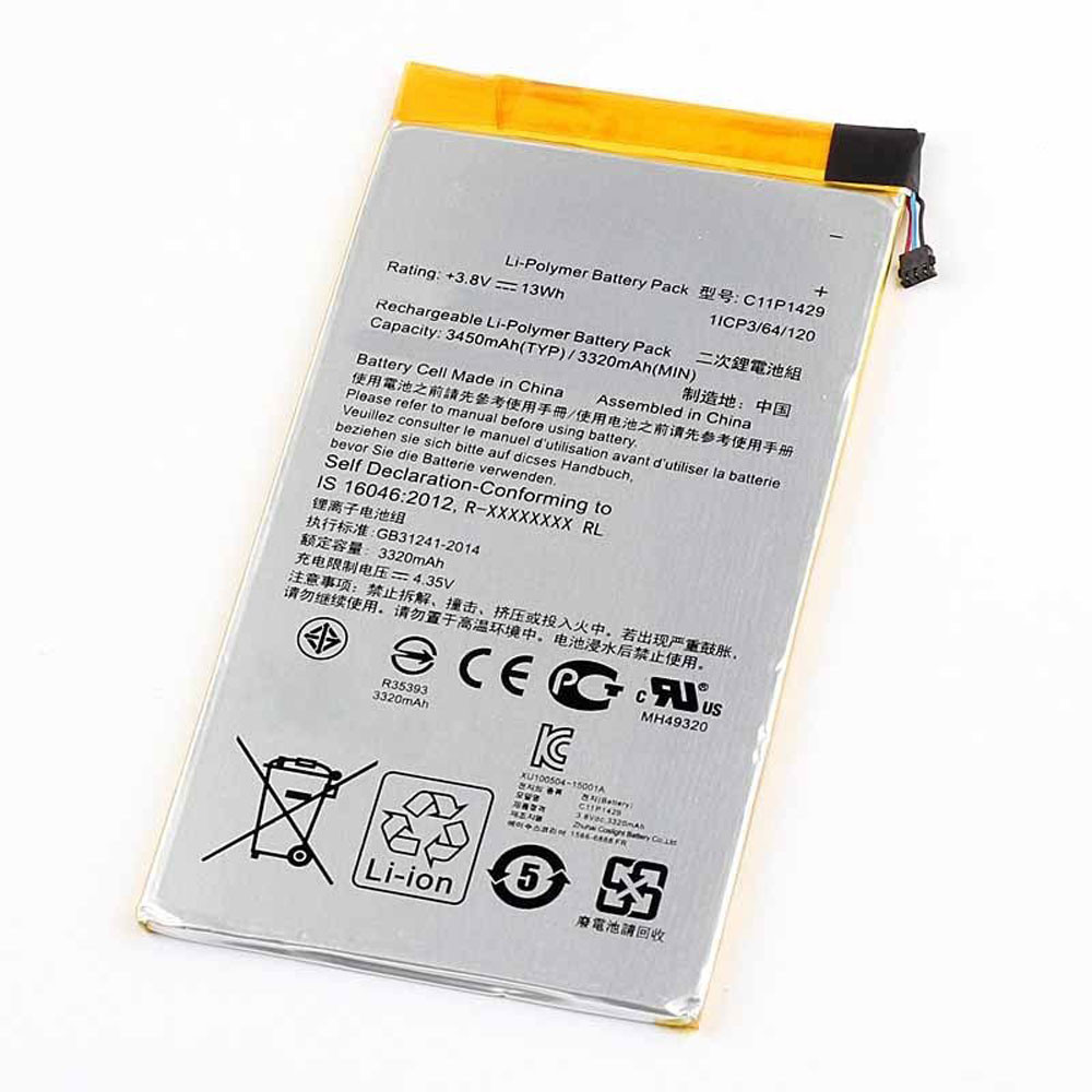 3450mAh/13WH 3.8V/4.35V C11P1429 Replacement Battery for Asus Z710 Zenpad C7.0 Z710C P01Z