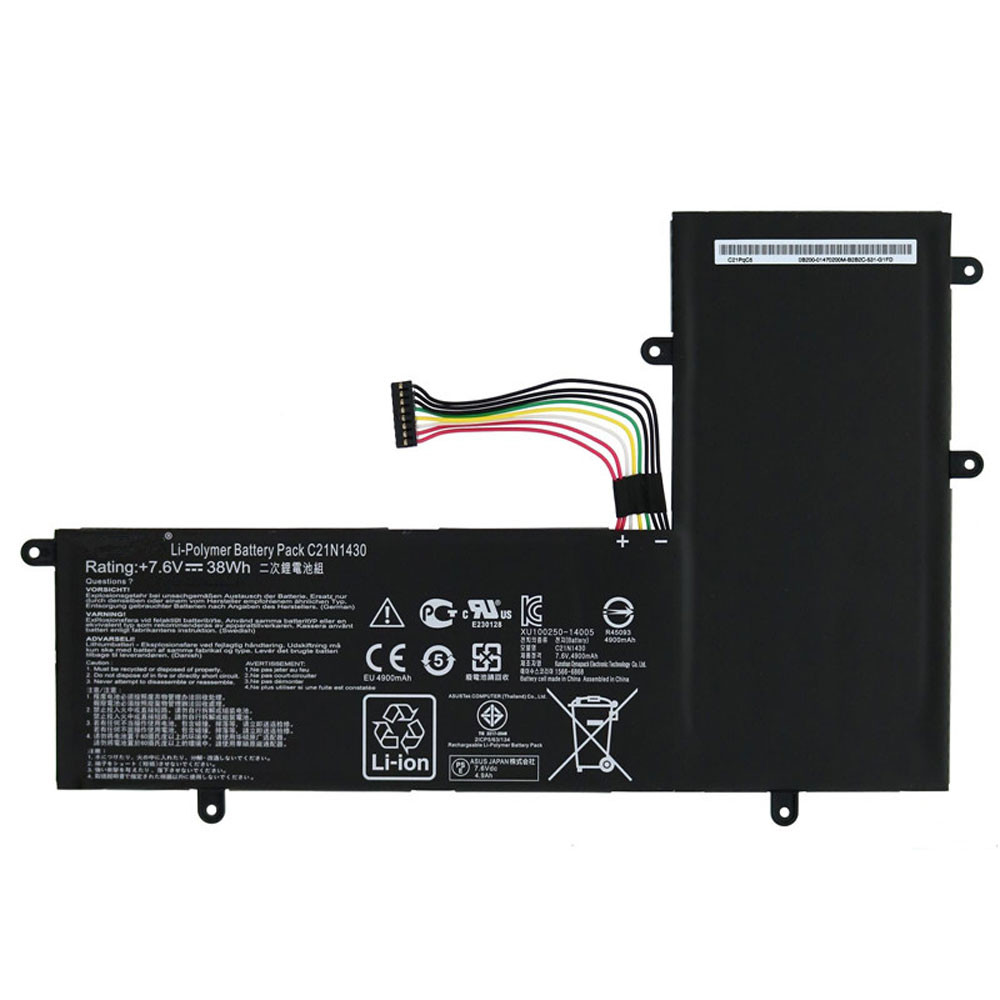 4900MAH/38WH 7.6V C21N1430 Replacement Battery for Asus C201PA Chromebook