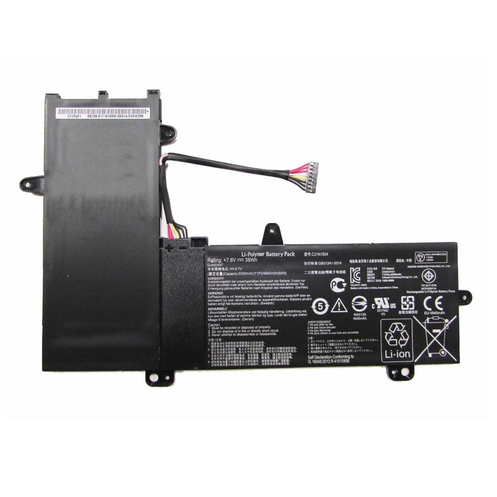 38Wh  5000mAh / 4840mAh 7.6V C21N1504 Replacement Battery for Asus Transformer Book Flip TP200SA Series