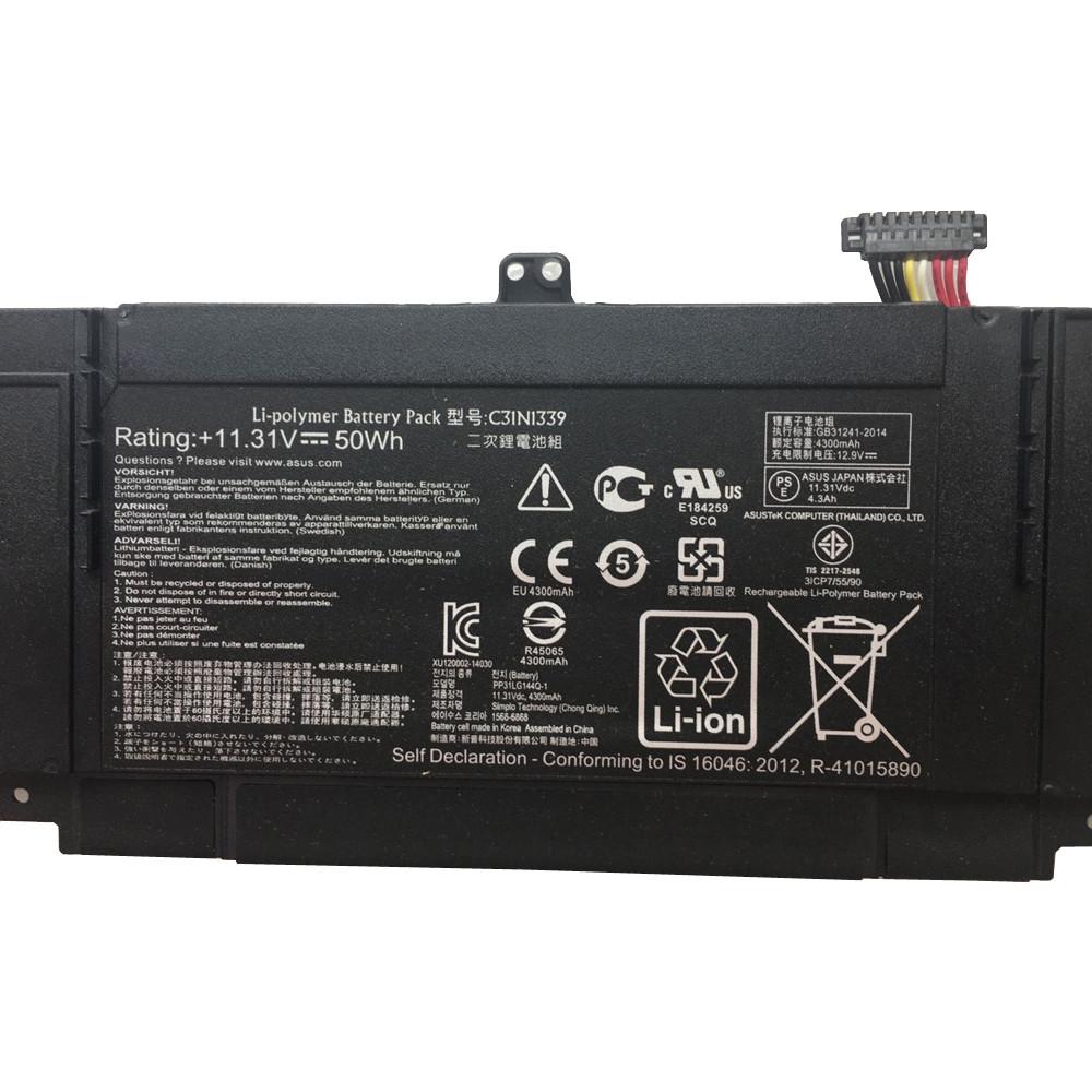 50Wh Asus ZenBook UX303L Q302L Laptop Replacement Battery C31N1339 11.31V 50Wh 11.31V