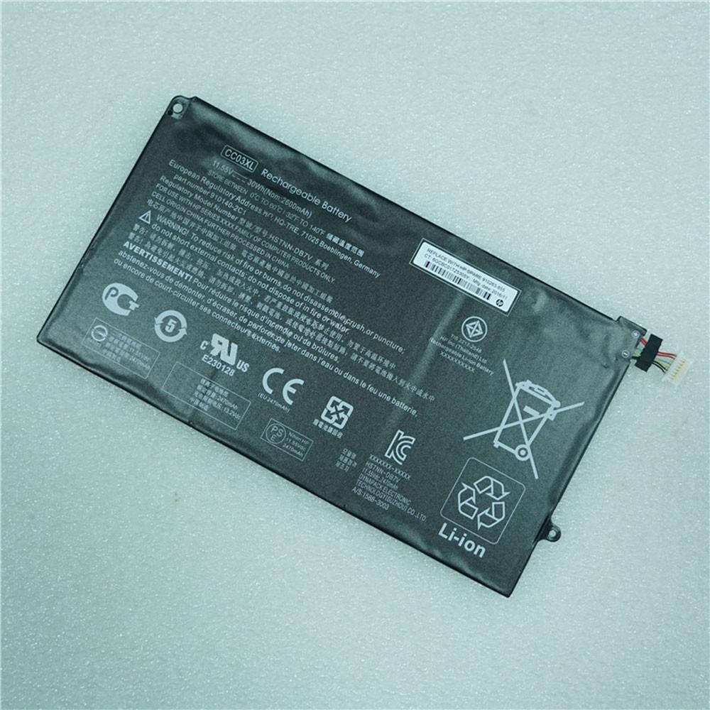 30Wh/2600mAh 11.55V CC03XL Replacement Battery for HP HSTNN-DB7V 910140-2C1 Series