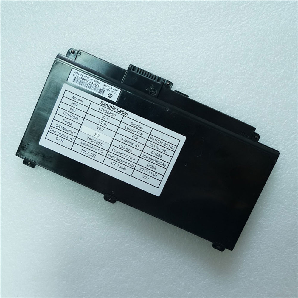 48Wh/4212mAh 11.4V CD03XL Replacement Battery for HP HSTNN-IB813 931719-850 931702-171 Series